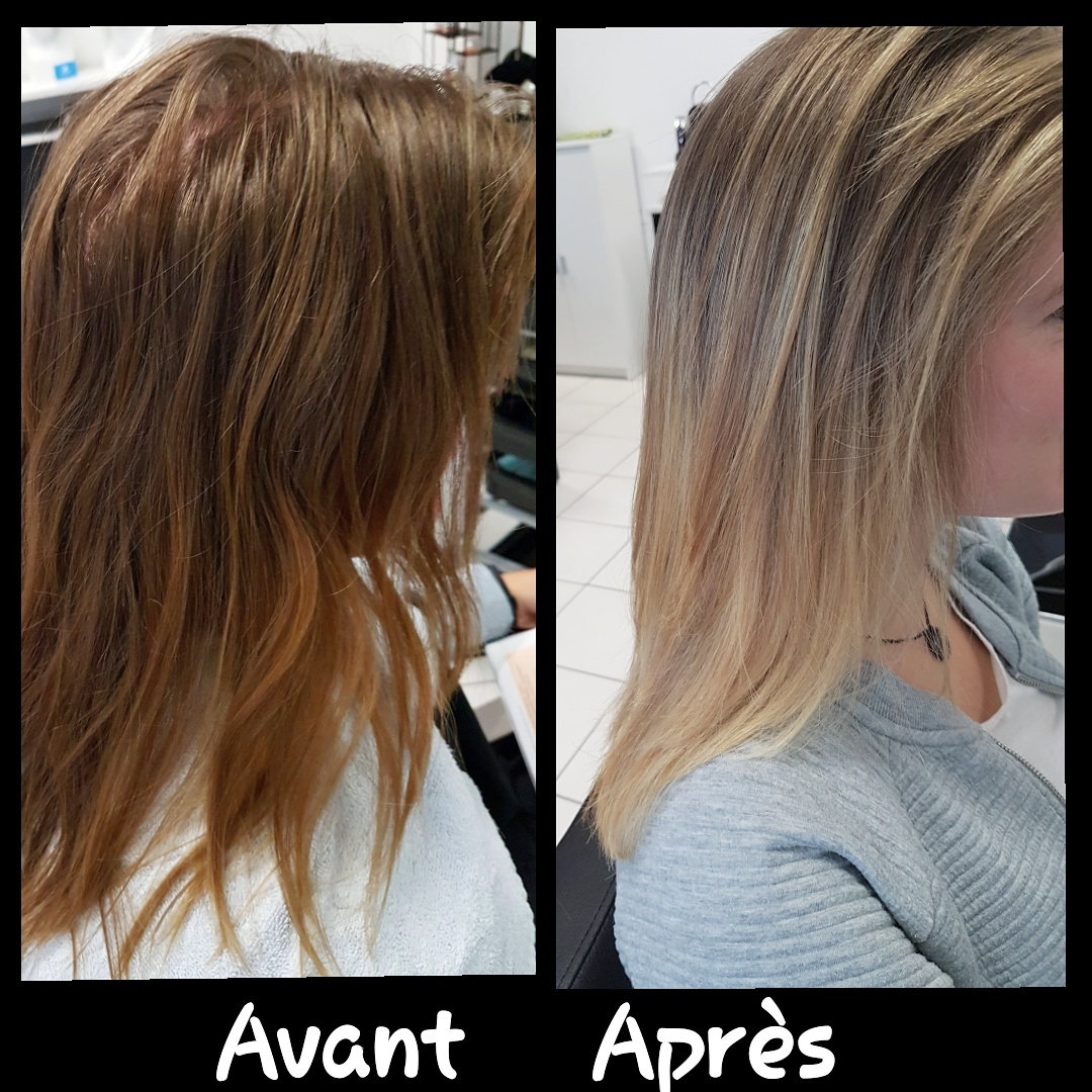 Mèches, coupe et brushing