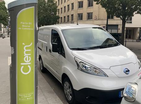Paris : Clem' lance son système de partage de véhicules utilitaires électriques