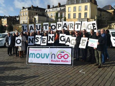 VIDÉO : le service d'autopartage Mouv'n Go inaugure 4 nouvelles stations dont Le Lude et Marigné-Lai