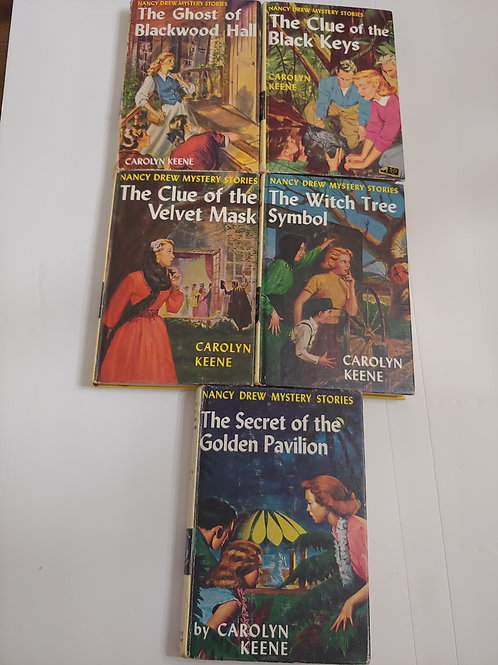 Nancy Drew Mystery Stories (Books #25,28,30,33,36)
