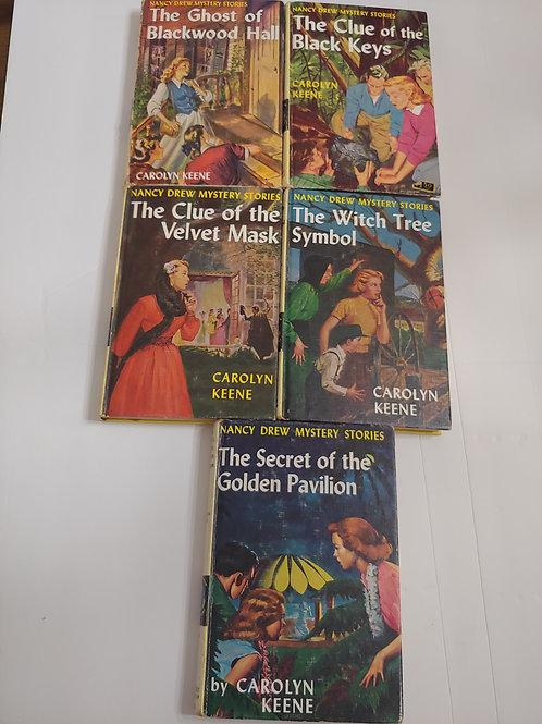 Nancy Drew Mystery Stories (Books #25,28,30,33,36)