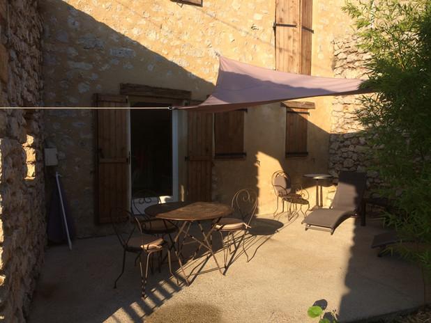Terrasse chambre rez de jardin