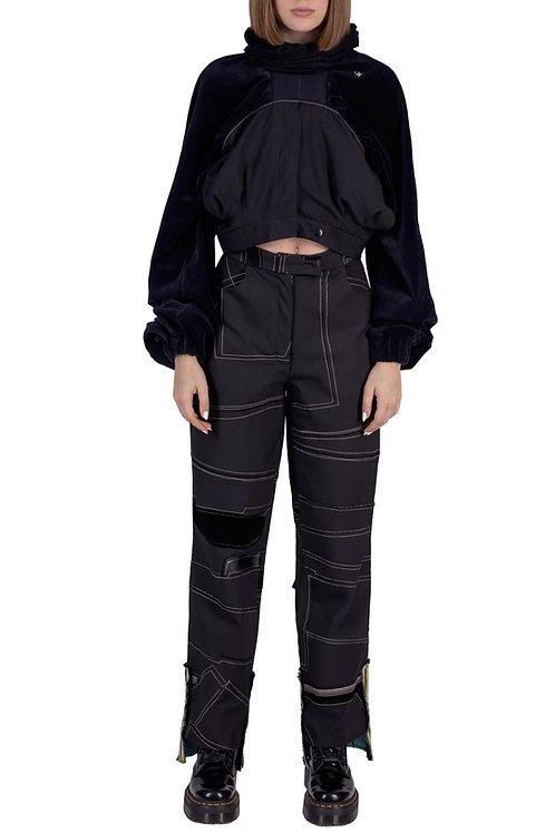 two pants = cowl/snood hoodie C3L04T01