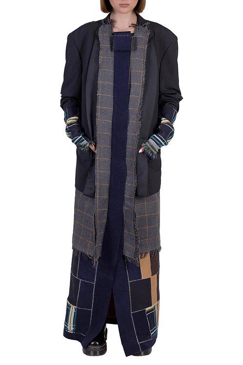 layered upcycled long coat C3L08T01