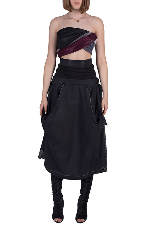 two reworked shirts = bulky skirt C3L02B01