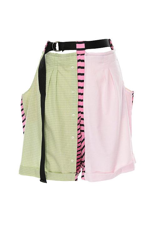 Paneled pants multi-reclaimed