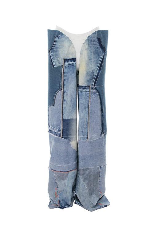Reclaimed extra long denim pants