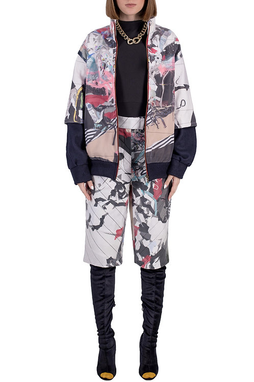 wasteart = statement zipped jacket in quilted fabric C3L01T01
