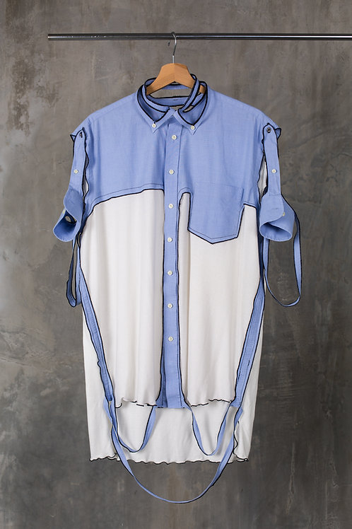 Cutout oversized shirt                                                  C2L01T01