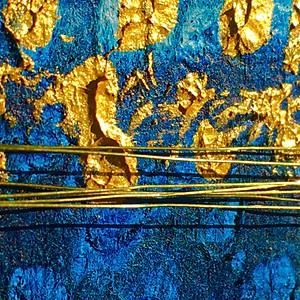 oro porpora e blu di prussia