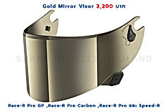 Gold Mirror Visor Race-R Pro Series