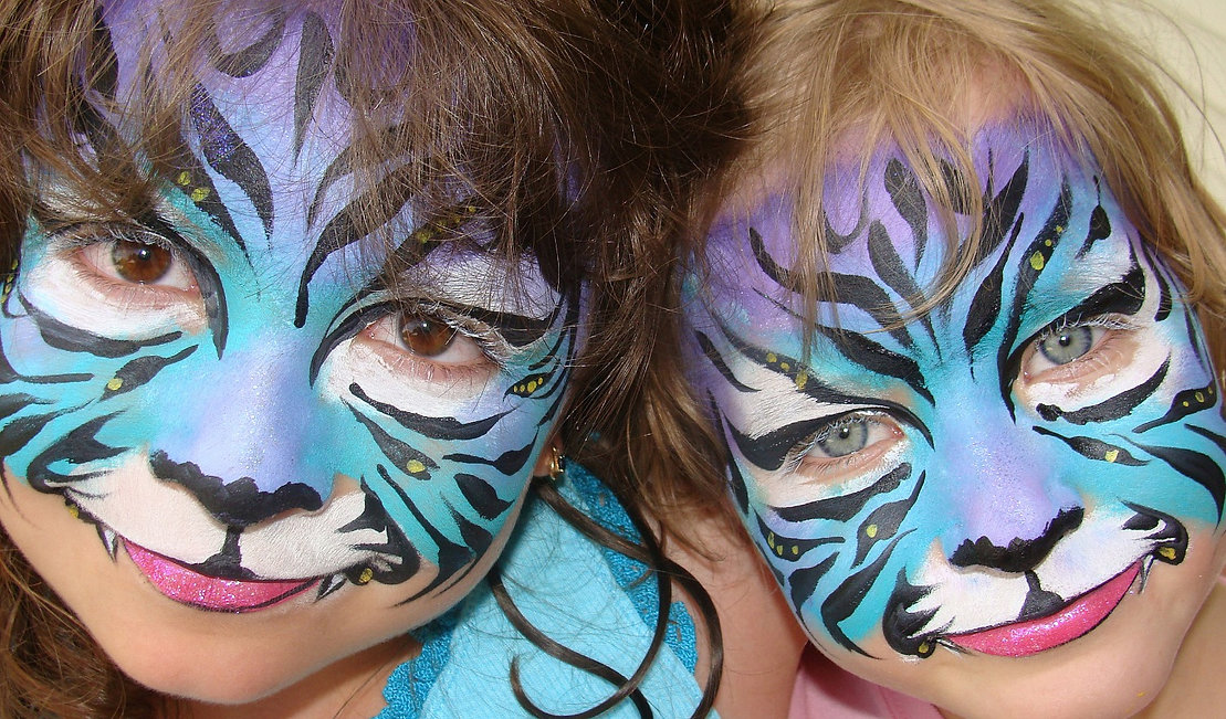 Swirls and Curls Face Painting