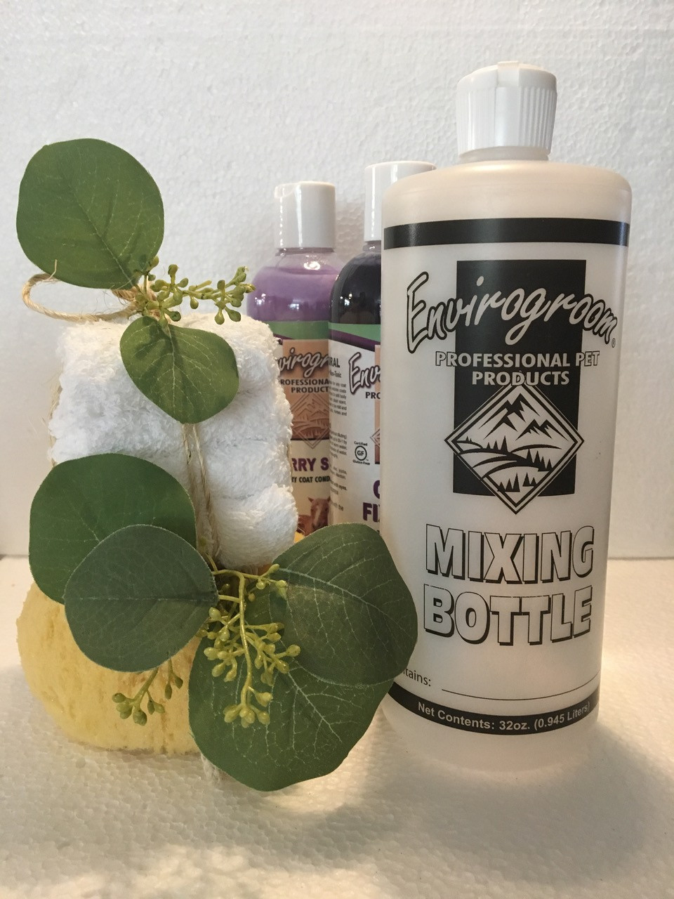 envirogroom mixing bottles pet shampoo
