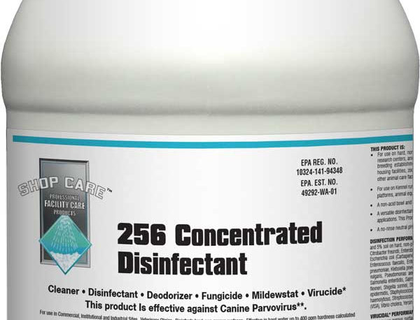 Shop Care 256 Concentrated Disinfectant: Kills Parvo