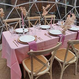 pink themed garden igloo.jpg