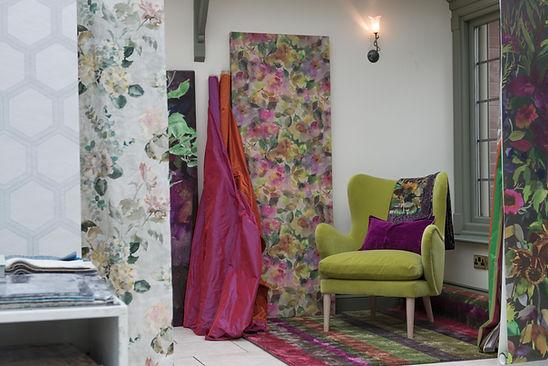 Desgn central amazing wallpaper and fabrics.