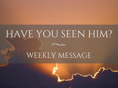 Weekly Message | Have You Seen Him?