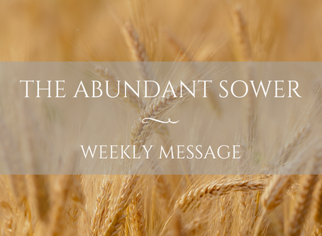Weekly Message | The Abundant Sower