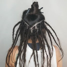 Crystal has wanted dreadlocks for several years and decided to do them before her second c