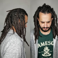 Arturo has had his dreadlocks for a little while now.  He came in to maintenance them this