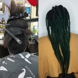 Before and after on the beautiful Tanasia. She has wanted dreadlocks for sometime now.jpg