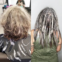 Michelle _dreadedwoman has never had dreadlocks before. She was excited to get the dream h