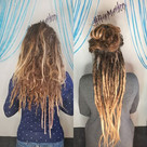 Before and after! Still in progress.. more to come soon! Dreadlock maker _hair.maiden ..jp
