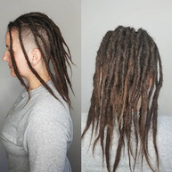 I got to do a retouch on this amazing lady! Danielle's dreads where a lot shorter the last