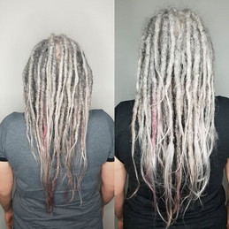 Becky's locks were pretty thin at the ends with just her natural hair without extentions.j