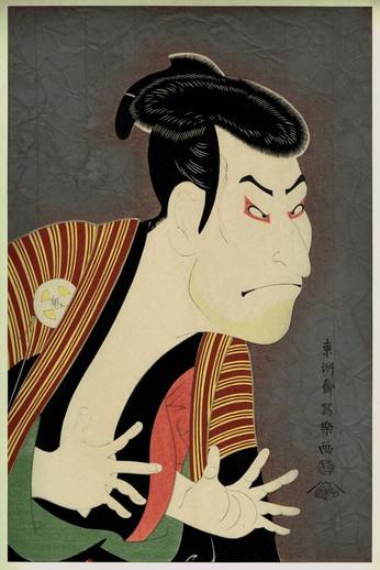 Актёры кабуки Тосюсая Сяраку