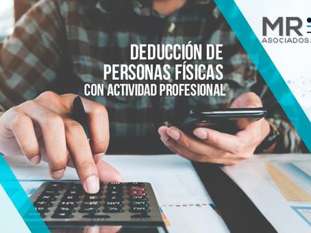 DEDUCCIONES DE PERSONAS FISICAS CON ACTIVIDAD PROFESIONAL