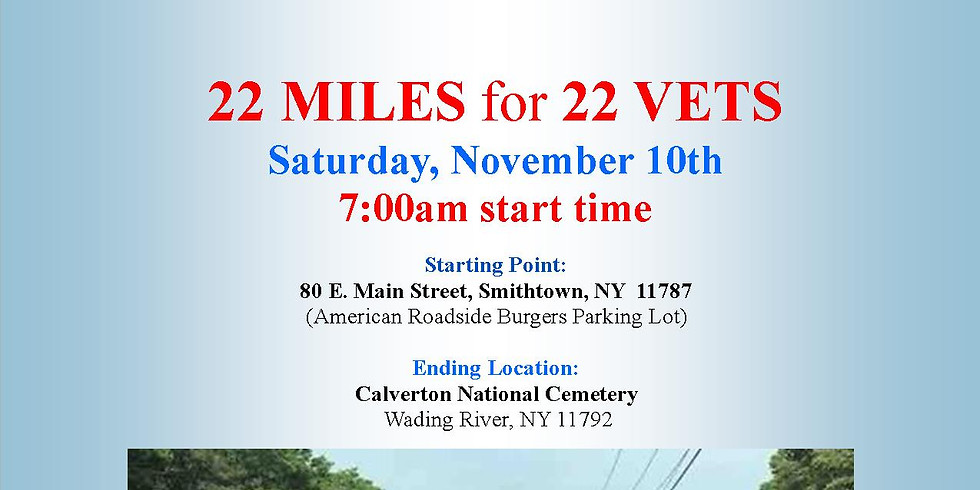 22 Miles for 22 Vets