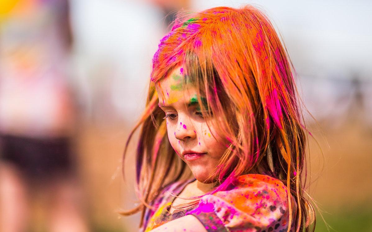 Flexo Inks, Girl in paint