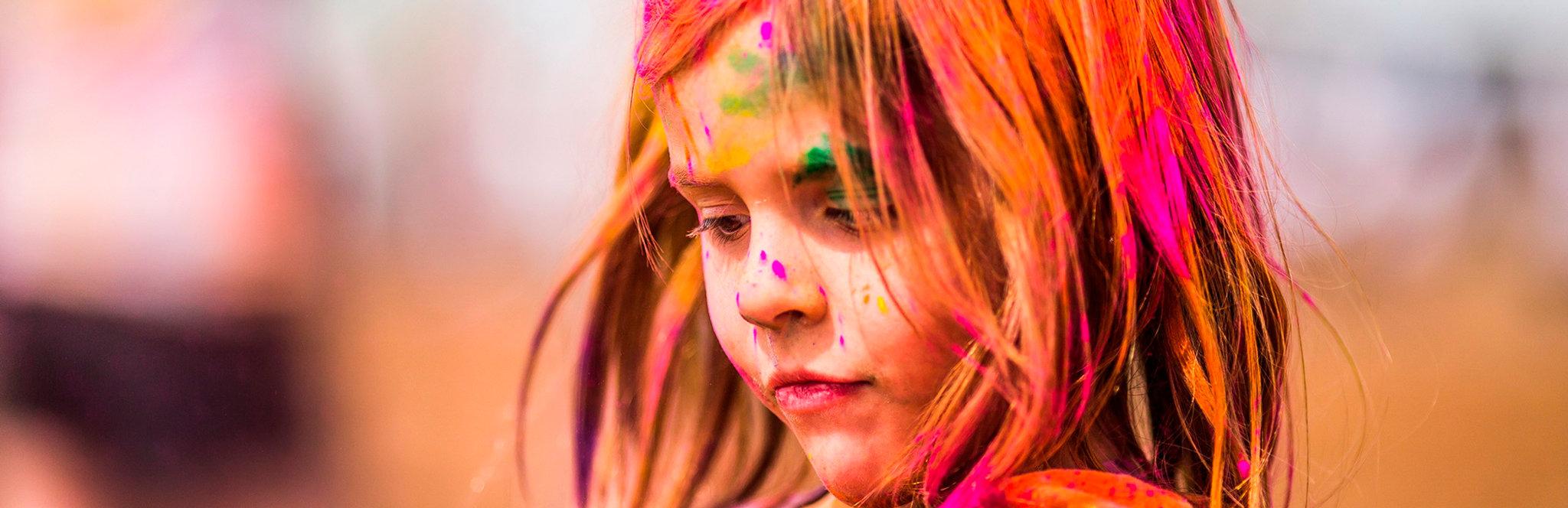 Девочка в краске Астра-Инкс