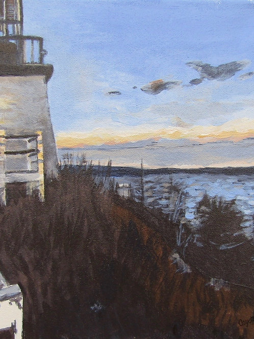 Lighthouse-side view, acrylic
