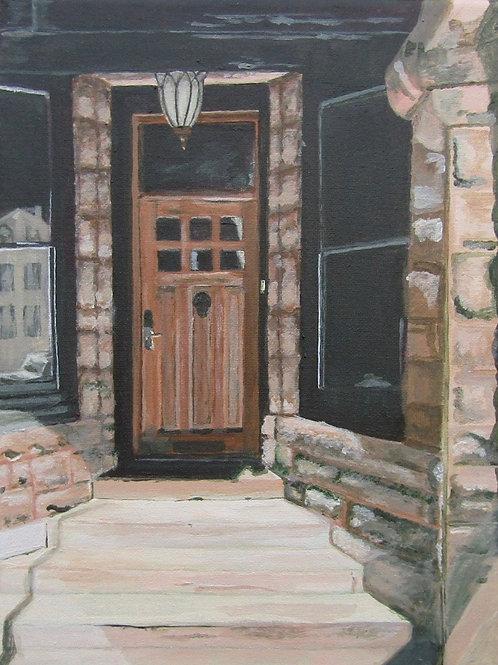Lincoln Park Door, acrylic