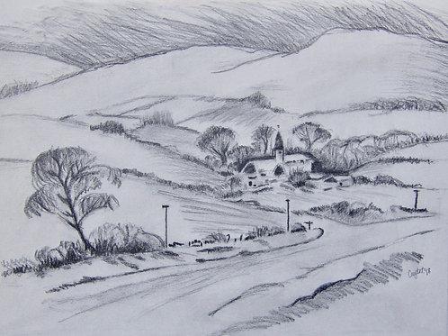 Hillside, graphite
