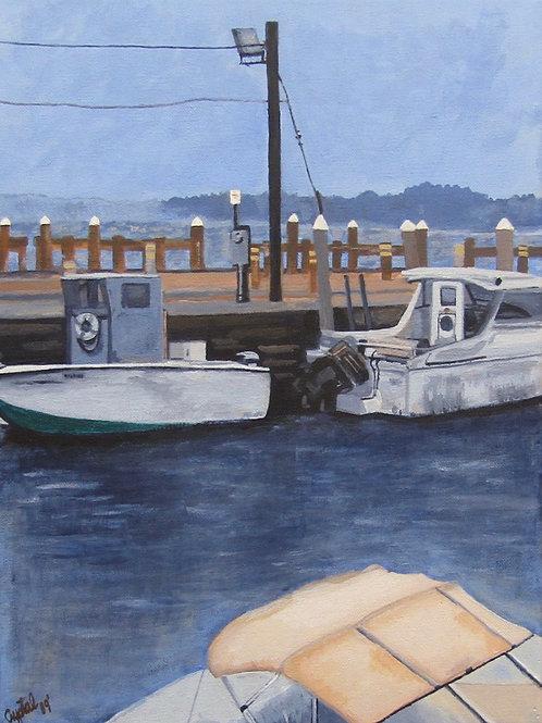 Boats, acrylic