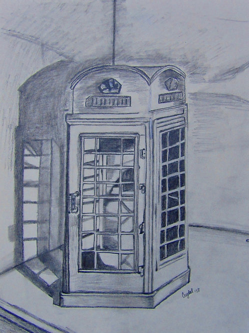 Phone box, graphite