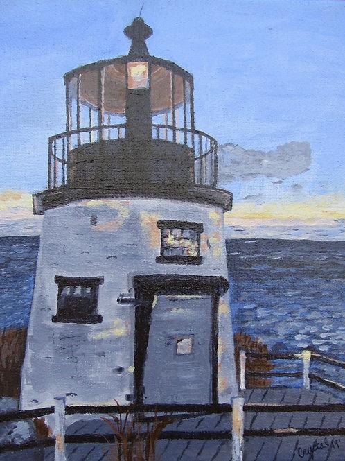 Owl's Head Lighthouse, acrylic