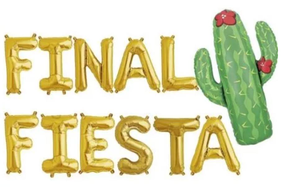 Final Fiesta Balloon Banner