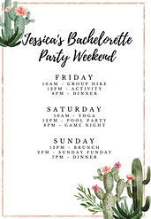 Scottsdale Bachelorette Party Itinerary