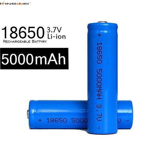 Batteria 18650 3.7V 5000mAh Li-ion Rechargeable