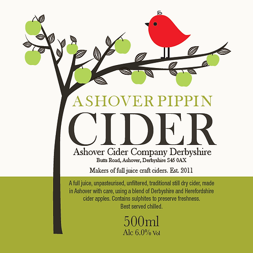 Ashover Pippin Cider 500ml Bottles (case of 12)