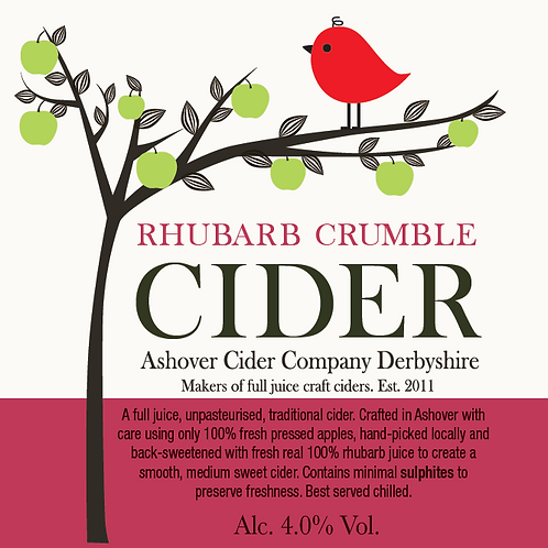 Rhubarb Crumble Cider 500ml Bottles (case of 12)