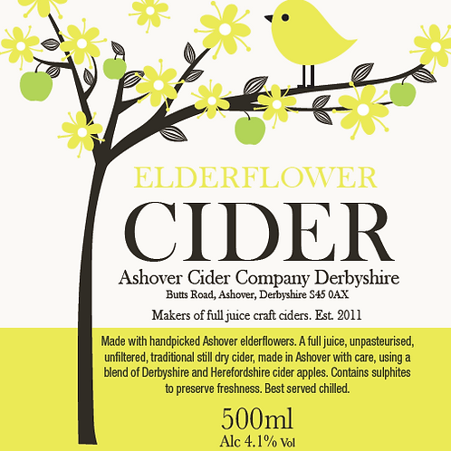 Elderflower Cider 500ml (case of 12)