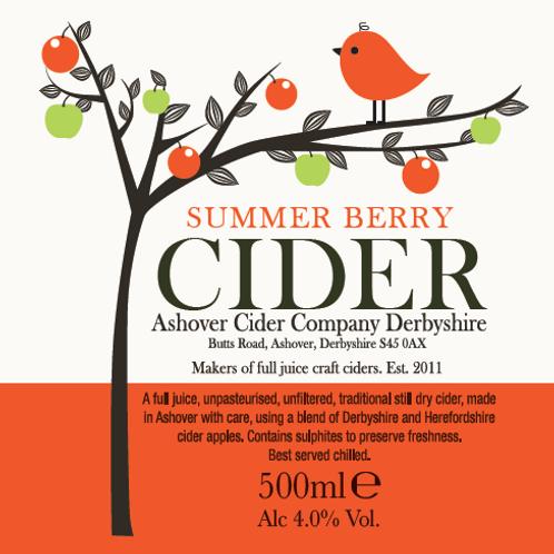 Summer Berry Cider 500ml Bottles (case of 12)