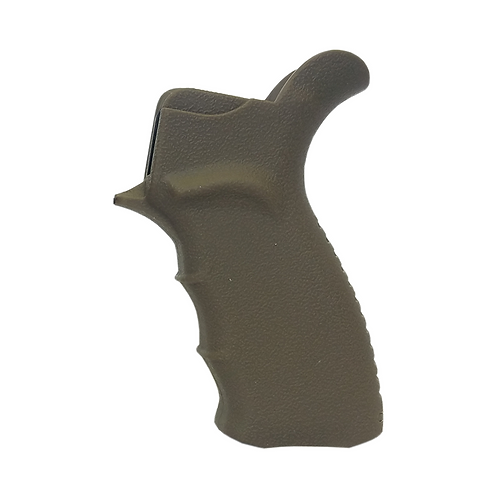 PISTOL GRIP, PLASTIC / RUBBER OVER MOLDED W/ COMPARTMENT, FLAT DARK EARTH