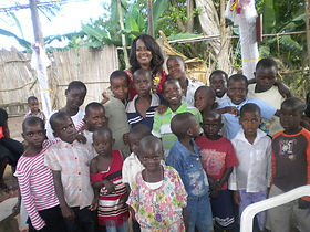 With Children at Holy Mountain Church.JP