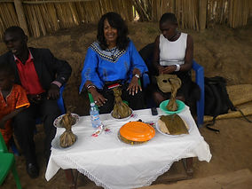 Having an African Meal at Church.JPG